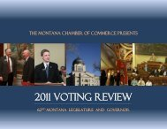 2011 VOTING REVIEW - Montana Chamber of Commerce
