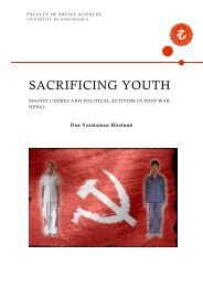 SACRIFICING YOUTH - Dignity - Danish Institute Against Torture