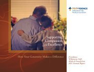 Providence Willamette Falls Medical Foundation 2011 Annual Report