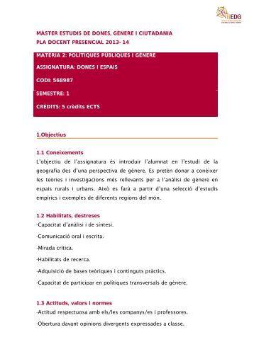 Presencial - Institut Interuniversitari d'Estudis de Dones i Gènere ...