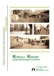 RHO Kokkolan raportti 2000 - Museovirasto