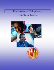 Professional Telephone Courtesy Guide - Workforce Management ...