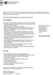 Entwicklungsprogramm für Ingenieure (m/w)