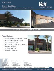Marketing Brochure - Voit Real Estate Services