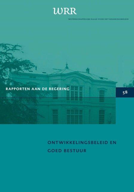 WRR- rapport 58: Ontwikkelingsbeleid en goed bestuur