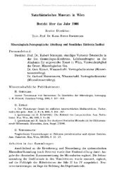 Naturhistorisches Museum in Wien Bericht über das Jahr 1966