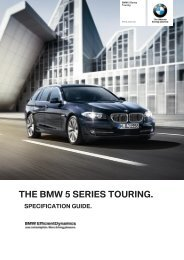 5 Series Touring Dealer Specification Guide - BMW