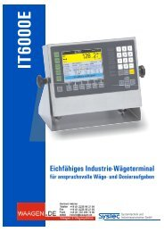 Prospekt IT6000E - Waagen.de