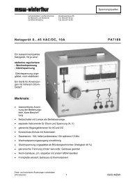 PA7188 Netzgerät 0...45 V/10 A