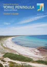 Visitor's Guide - The Yorke Peninsula Entry Point