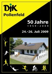 50 Jahre - DJK Pollenfeld