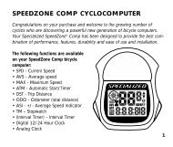 SPEEDZONE COMP CYCLOCOMPUTER - Specialized Bicycles