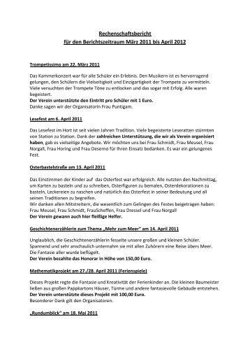 Rechenschaftsbericht für den Berichtszeitraum ... - Zille-Grundschule