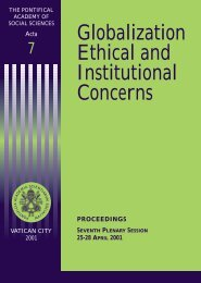 Globalization Ethical and Institutional Concerns - Pontifical Academy ...
