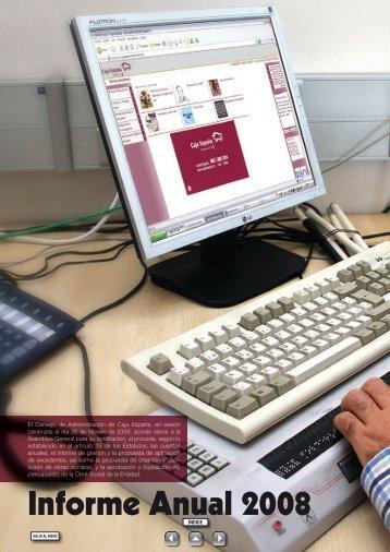 Informe y cuentas anuales 2008 - Caja España-Duero