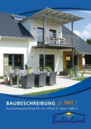 BAUBESCHREIBUNG - Badenland