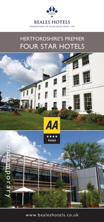 Download the group brochure here! - Beales Hotels