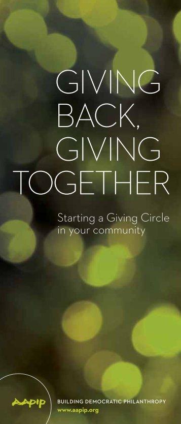 Download Giving Back, Giving Together (PDF)