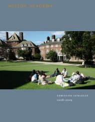 Milton Admission Catalogue 08-09 - Milton Academy