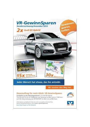 GewinnSparer - Volksbank Hohenzollern eG