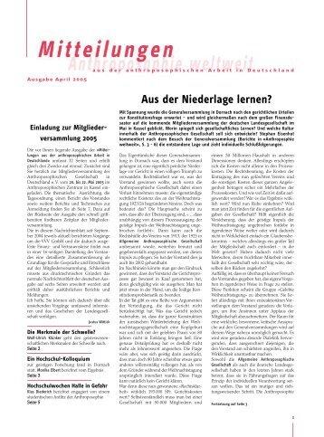 April 2005 - Anthroposophische Gesellschaft in Deutschland