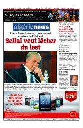 Fr-25-07-2013 - Algérie news quotidien national d'information