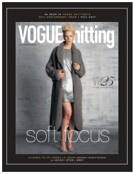 INTERNATIONAL AS SEEN IN VOGUE KNITTING'S 25th ...