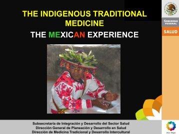 la medicina tradicional indigena - Dirección General de Planeación ...