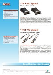 1T-CT-570 System - VIDELCO