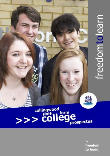 freedom to learn >>> college - Collingwood College