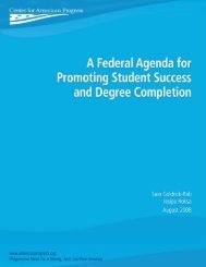 A Federal Agenda for Promoting Student Success and Degree ...