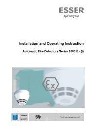 und Betriebsanleitung Automatische Brandmelder Serie 9100 Ex