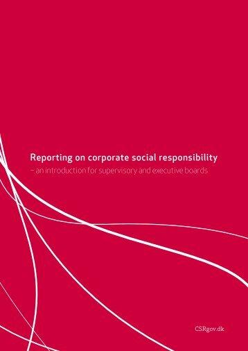 Reporting on corporate social responsibility - Samfundsansvar
