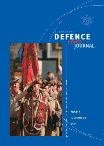 ISSUE 149 : Jul/Aug - 2001 - Australian Defence Force Journal