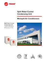 Minisplit Air Conditioners Split Water-Cooled Condensing Unit