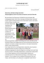 Sichtbare Erfolge beim Erhalt Bürgerengagement ... - lothar-quanz.de