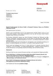 Positionspapier der Novar GmbH, a - ESSER by Honeywell