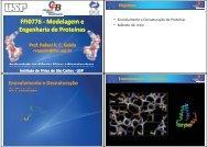 FFI0776 Modelagem e Modelagem e Engenharia de Proteínas - USP