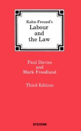 Labour and the Law - College of Social Sciences and International ...
