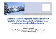 Präsentation: Prof. Harald Gündel - BKK-Landesverband NORDWEST