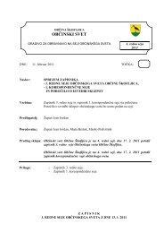 Sprejem zapisnika 3. redne seje občinskega sveta ... - Občina Škofljica