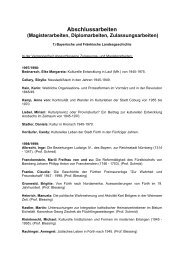 Abschlussarbeiten (Magisterarbeiten, Diplomarbeiten