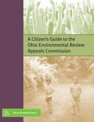 A Citizen's Guide to the Ohio Environmental Review Appeals ...