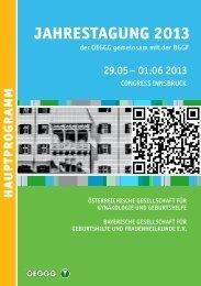 ha uptpr ogramm - Österreichische Gesellschaft für Gynäkologie und ...