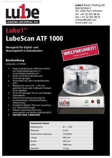 LubScan1000 DE