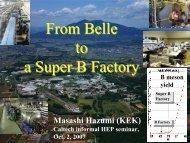 From Belle to a Super B Factory - Belle II - KEK