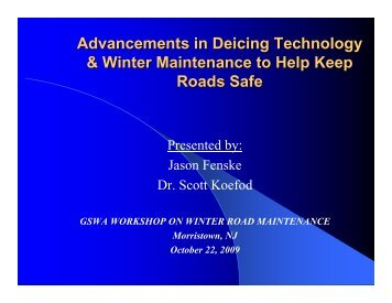 Advancements in Deicing Technology & Winter Maintenance to Help ...