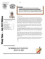 Jul-Aug'13 Newsletter - Windy Brushes of Northern Illinois