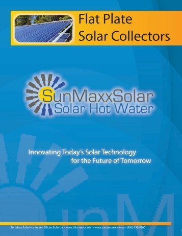 Brochure 03 - flat-plate-solar-collectors.indd - SunMaxx Solar