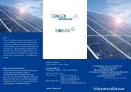 Flyer Solarpotentialkataster - Stadtwerke Singen